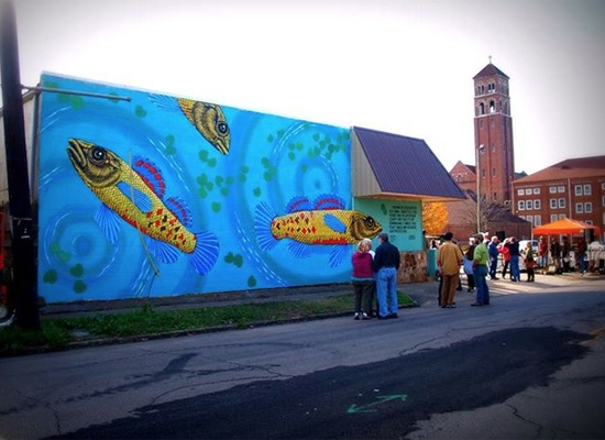 Watercress darter mural in Birmingham, Ala. Photo: Kyle Crider