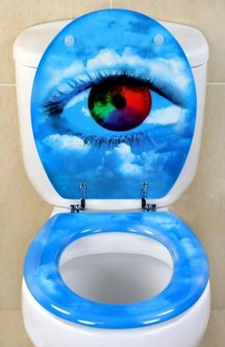 Amusing Monday Finding art and humor on the toilet seat
