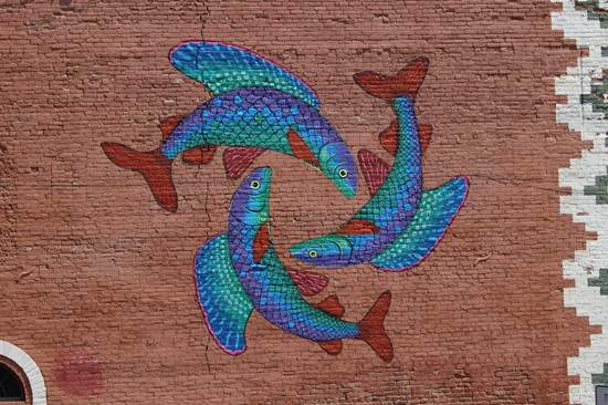 Arctic grayling mural in Butte, Mont.