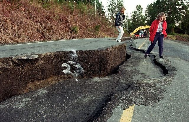 The 6.8-magnitude Nisqually quake, centered near Olympia in 2001, caused extensive damage to Highway 302 on the Kitsap Peninsula. But that quake could be considered small compared to what might result from a quake on the shallow Seattle fault. Kitsap Sun file photo
