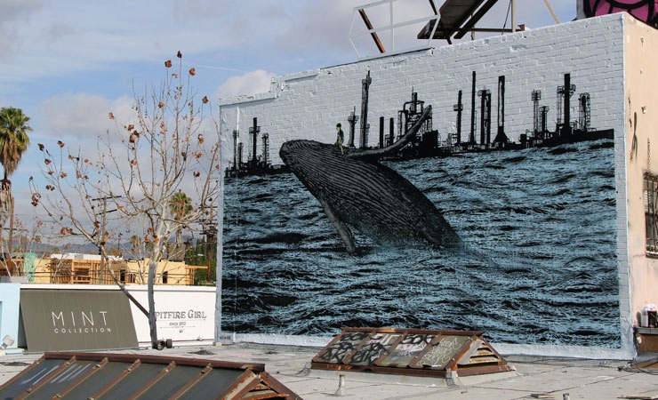 Whale mural in Los Angeles. Photo: Jess X. Chen