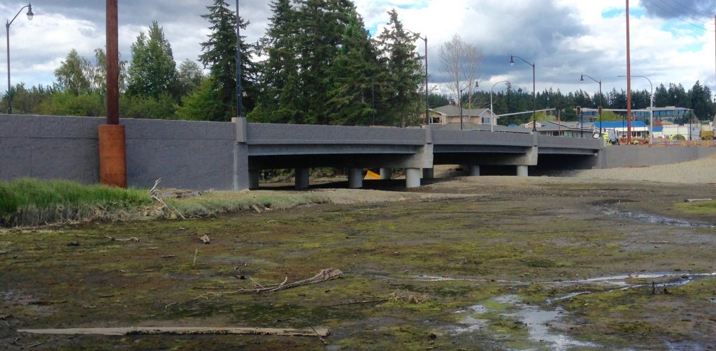 The new Bucklin Hill Bridge opens up the estuary. Photo: C. Dunagan