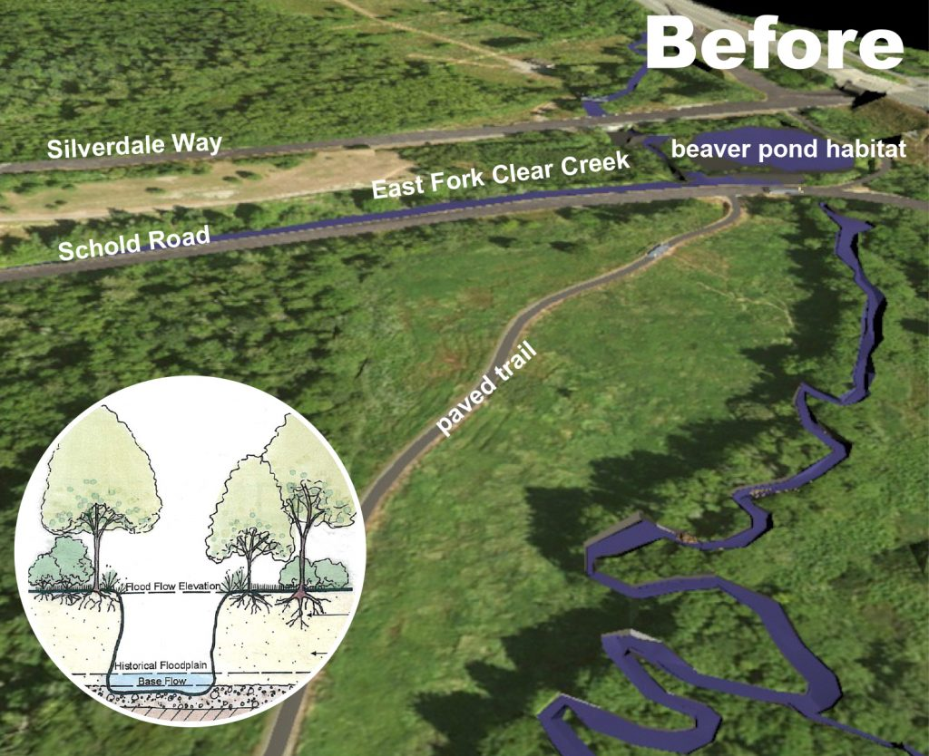 Graphic showing area before restoration. Graphic: Kitsap County Public Works