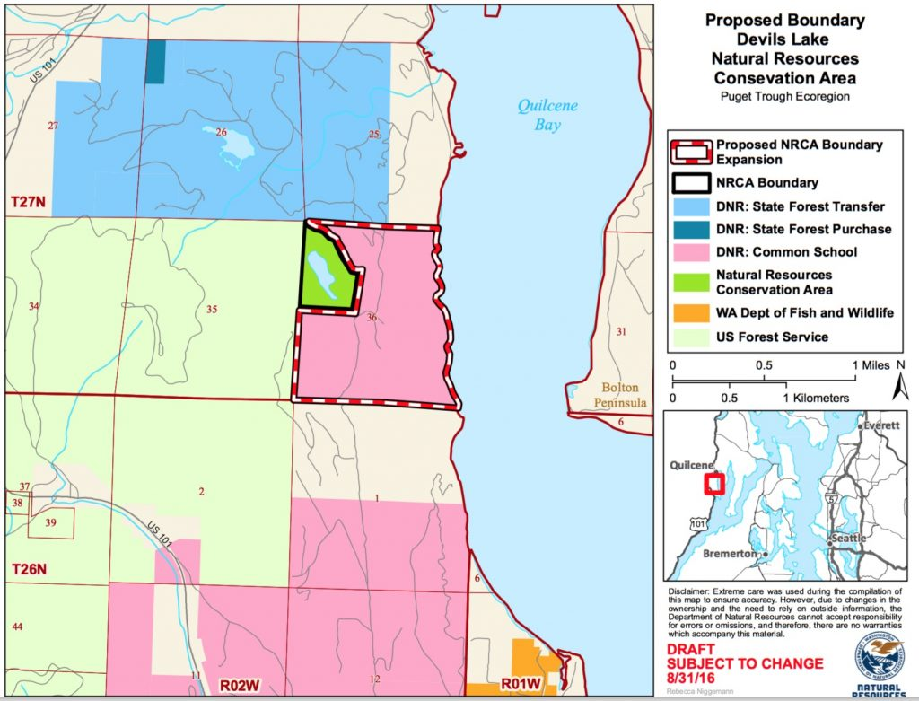 Proposed expansion of Devils Lake Natural Resources Conservation Area Map: DNR