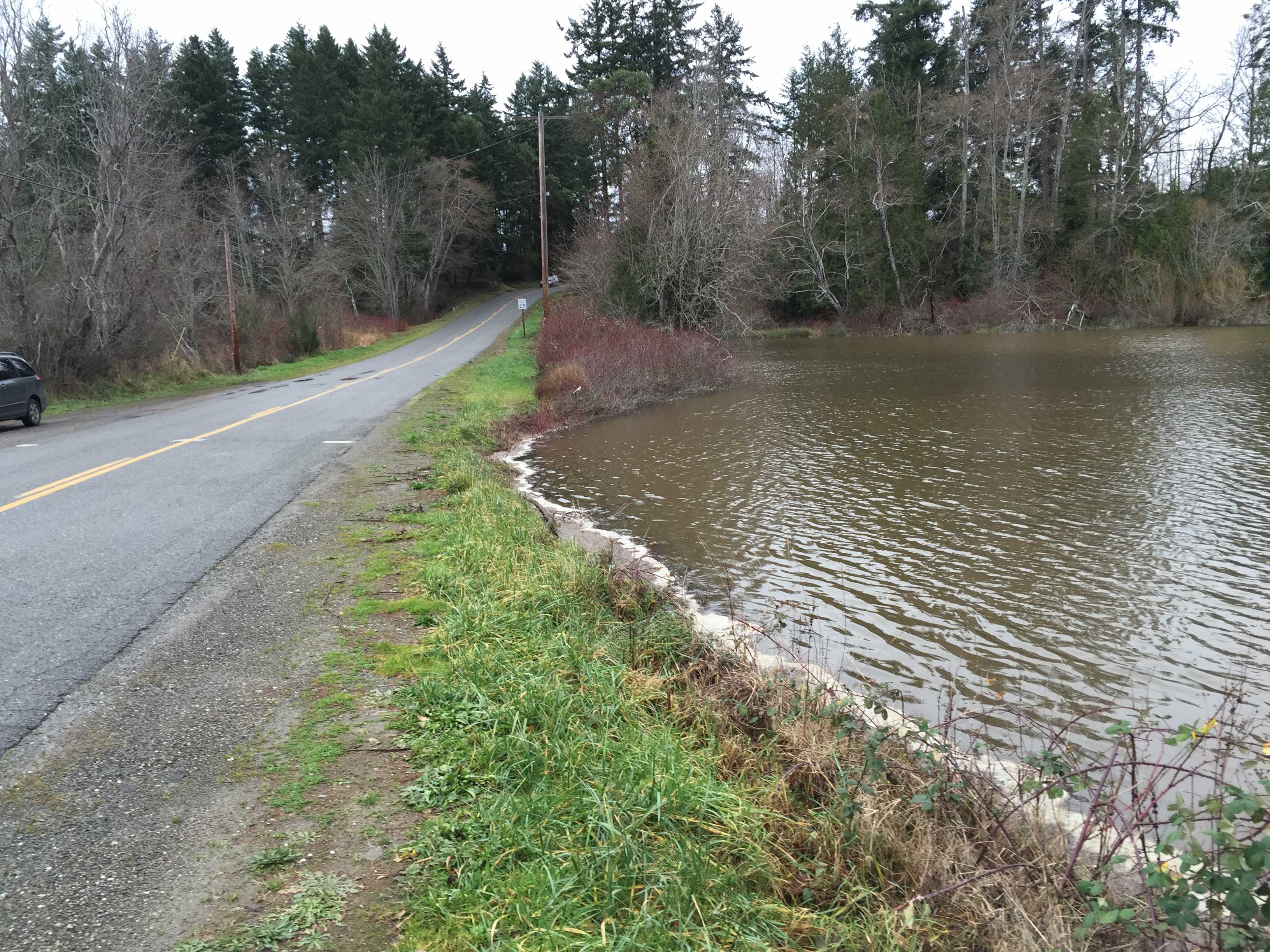 Olympiad Drive crosses Harper Estuary. Photo: Kitsap County Public Works