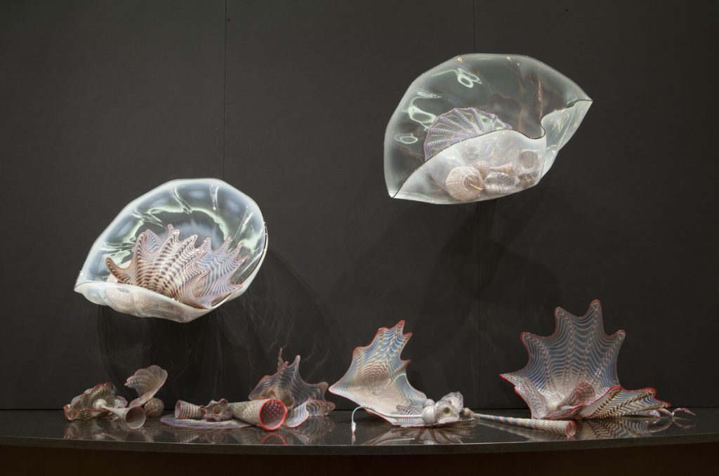 Persian Sea Forms, blown glass by Dale Chihuly. This piece is 67 by 120 inches. Photo: Terry Rishel